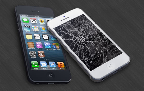 Màn hình iPhone 5 hư hỏng mặt kính