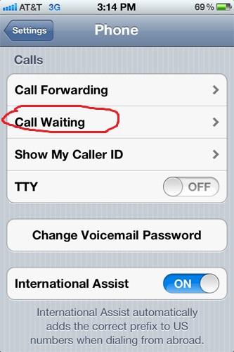 Cài đặt cuộc gọi chờ trên iPhone 5S