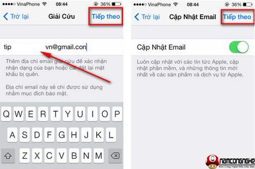 Cài đặt iCloud iPhone 5s