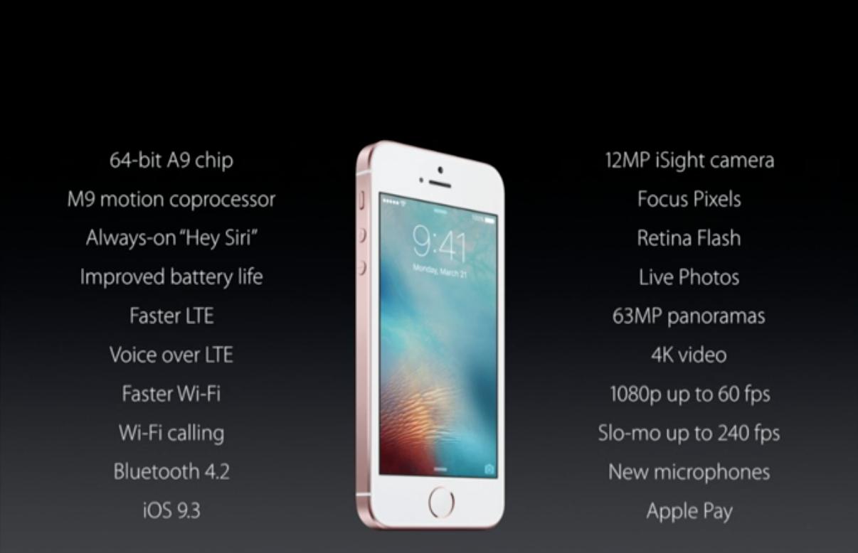 Điểm nổi bật trên iPhone SE