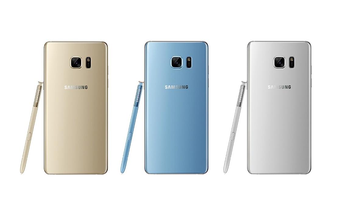 Galaxy Note 7 có 3 màu