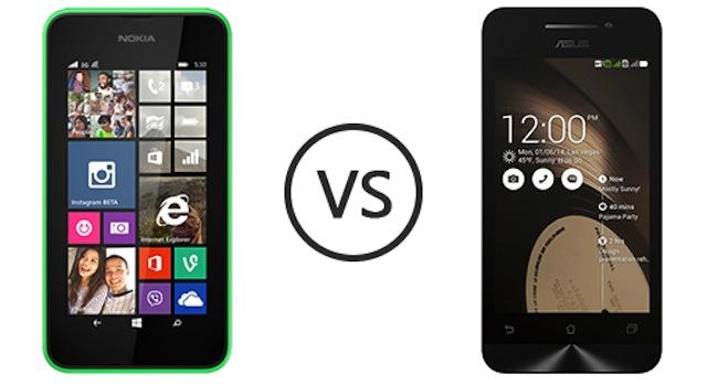 So sánh Asus Zenfone 4 và Nokia Lumia 530
