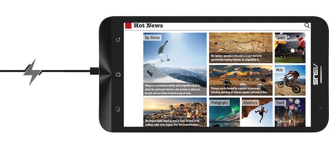 Công nghệ sạc pin nhanh trên Asus Zenfone 2 và Zenfone Zoom