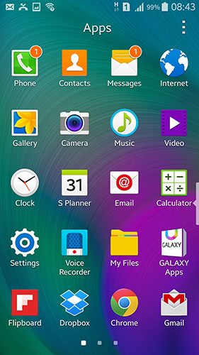 Giao diện Samsung Galaxy A7 A7000 Andywin dùng hệ điều hành 4.4