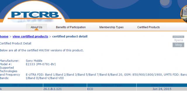 Chứng nhận bản cập nhật mới của Sony Xperia M4 Aqua